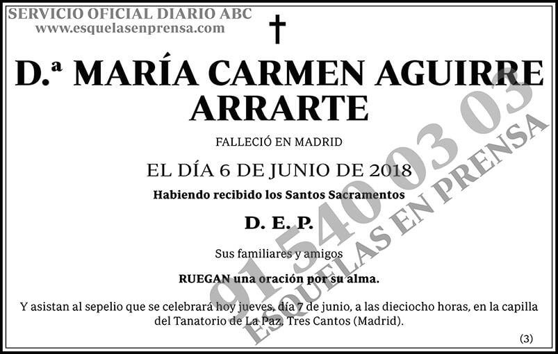 María Carmen Aguirre Arrarte